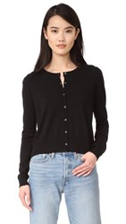 525 America Scalloped Edge Boyfriend Cardigan Black