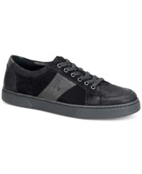 Born Men's Baum 6 Eye Moc Toe Sport Oxford Sneakers Men's Shoes Black