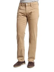 Mavi Jeans Zach British Khaki Twill Straight Leg Pants Beige