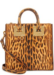 Sophie Hulme Albion Leopard Print Leather Tote