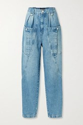 Isabel Marant Kerris High Rise Tapered Jeans Light Blue