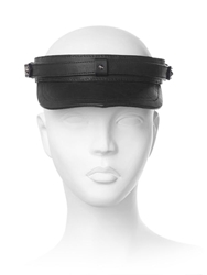 House Of Malakai Leather Visor Black Silver