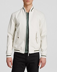 The Men's Store At Bloomingdale's Woven Bomber Jacket White