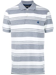 Brooks Brothers Striped Polo Shirt Grey