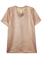 Reed Krakoff Bronze Foil Canvas T Shirt