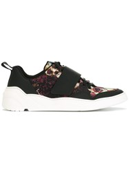 Christian Dior Homme Floral Print Sneakers Black