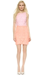 Cynthia Rowley Combo Lace Dress Soft Pink Coral