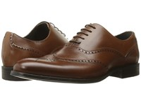 Stacy Adams Stockwell Wingtip Oxford Cognac Men's Lace Up Wing Tip Shoes Tan