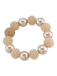 Carolee Pearl And Glass Stone Bracelet Rose Gold