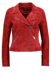 Only Onljosephine Leather Jacket High Risk Red