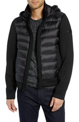 Tumi Quilted Down And Neoprene Hooded Jacket Black