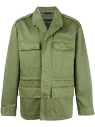 Marc Jacobs Stud Detail Military Jacket Green