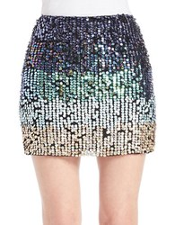French Connection Gradient Sequin Mini Skirt