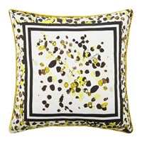 Roberto Cavalli Scamuskin Silk Bed Cushion 40X40cm Yellow