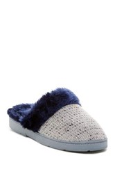 Isaac Mizrahi Ilene Faux Fur Slipper Gray