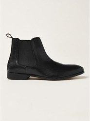 Topman Black Leather Throne Chelsea Boots