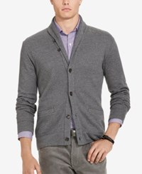 Polo Ralph Lauren Men's Jacquard Fleece Shawl Cardigan Grey