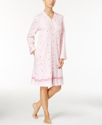 Charter Club Border Print Zip Front Robe Only At Macy's Rose Buds Border