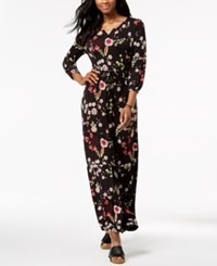Styleandco. Style Co Petite Printed Maxi Dress Created For Macy's Ditsy Black
