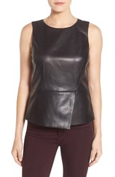 Halogenr Women's Halogen Leather Peplum Shell