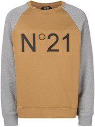 N 21 No21 Branded Raglan Sweatshirt Brown