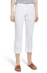 Brax Sunny Stretch Cotton Slit Hem Pants White