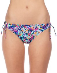 Kenneth Cole Reaction Mesh Bikini Bottom Navy Blue