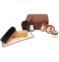 Berluti Shoe Care Set With Leather Case Brown