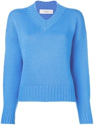 Pringle Of Scotland Cashmere Pullover Blue