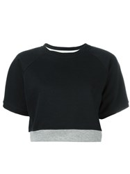 Marni Cropped Sweatshirt Blue