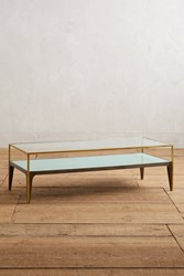 Anthropologie Silhouette Display Coffee Table Mint