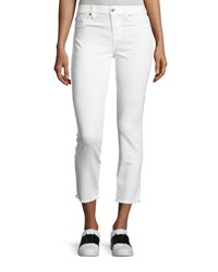 7 For All Mankind Roxanne Raw Edge Ankle Skinny Jeans White
