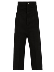 Rick Owens Dirty Jean Cropped Trousers Black