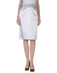 Gai Mattiolo Skirts 3 4 Length Skirts Women Light Grey