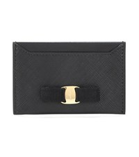 Salvatore Ferragamo Leather Card Holder Black