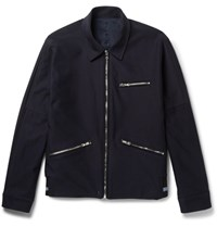 Solid Homme Cotton Twill Jacket Navy