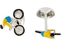 Deakin And Francis Bike Rider Cufflinks Silver