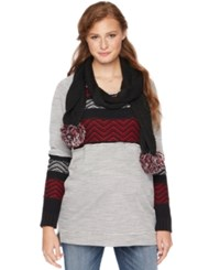 Wendy Bellissimo Maternity Patterned Sweater