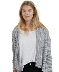 Violeta By Mango Plus Size Printed Open Front Cardigan
