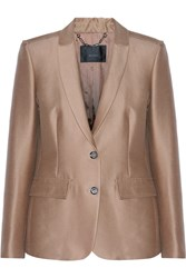 Belstaff Ashden Cotton And Silk Blend Jacket Brown