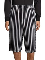 Mcq By Alexander Mcqueen Stripe Printed Trousers Black