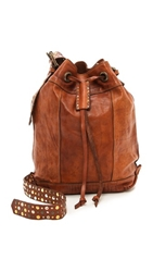 Campomaggi Studded Bucket Bag Cognac