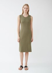Raquel Allegra Midi Jersey Dress Army