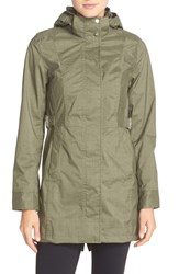 The North Face Women's 'Laney' Trench Raincoat Anchorage Green