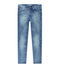 Givenchy Destroyed Light Wash Jeans Male Blue