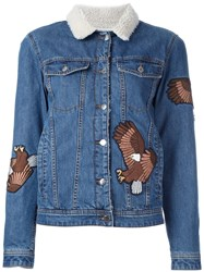 Each X Other Eagle Applique Denim Jacket Blue