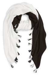Echo Tie Dye Tassel Wrap Black