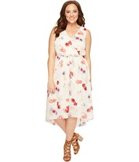 Lucky Brand Plus Size Floral Printed Maxi Dress Natural Multi Women's Dress