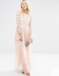 Needle And Thread Butterfly Gown Tulle Maxi Dress Petal Pink