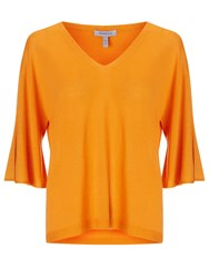Marella V Neck Sweater Orange